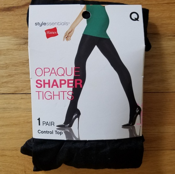 064482a149809 NWT - Hanes Opaque Shaper Tights - Queen NWT